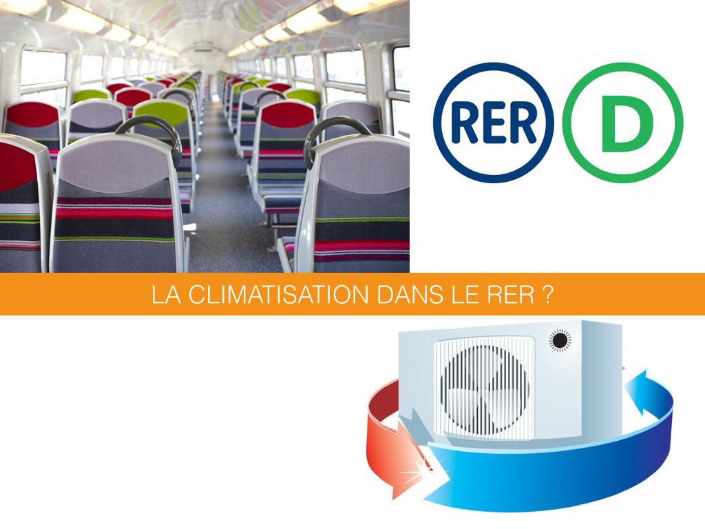 La climatisation dans le RER D