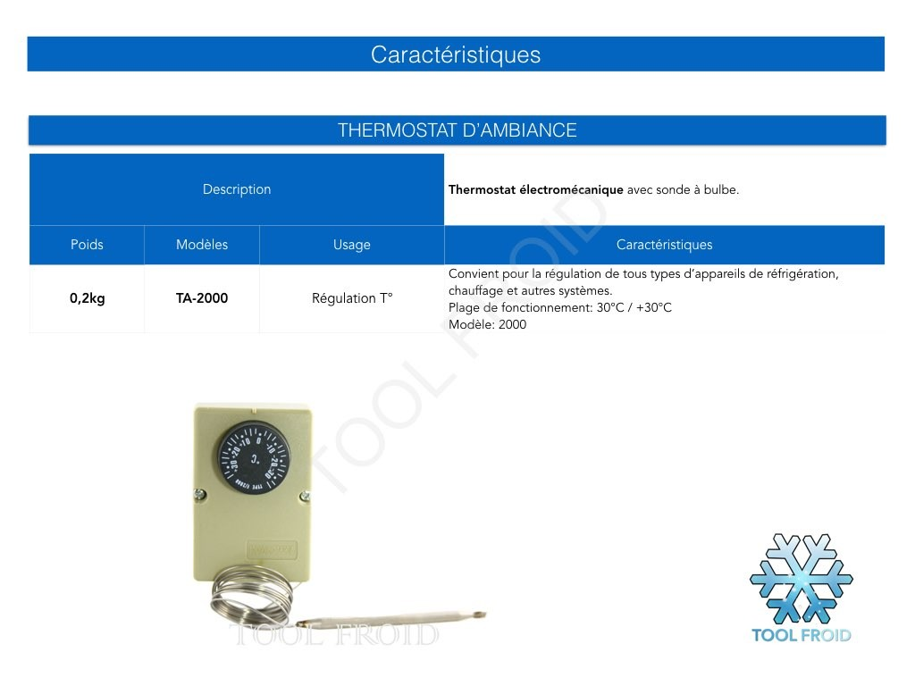 Le thermostat frigorifique
