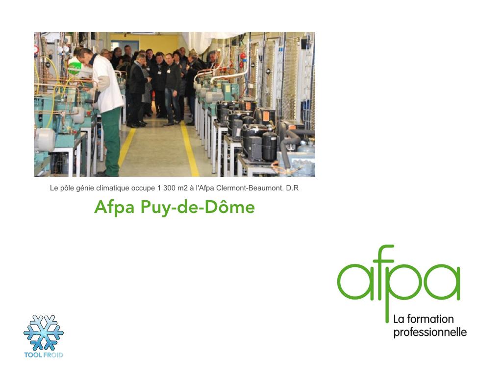 Inauguration du pôle génie climatique de l'Afpa Puy-de-Dôme.