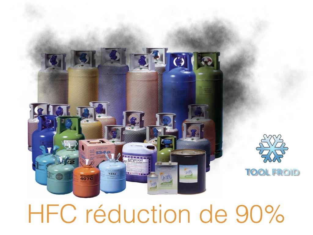 Le fluide-frigorigène, vers une réduction de 90%